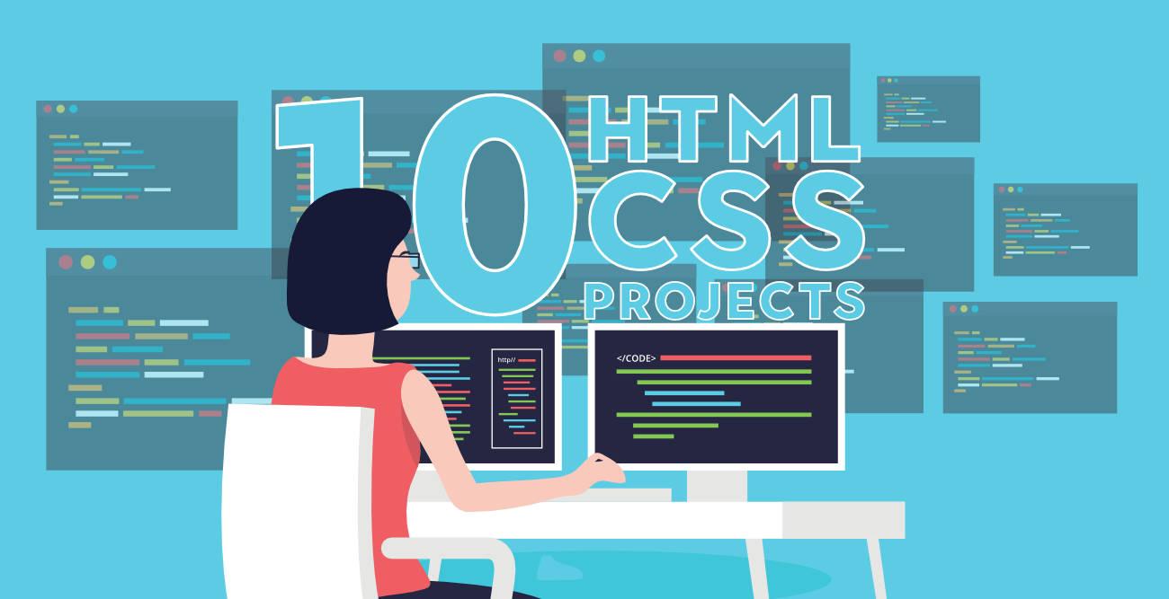 10 پروژه برتر برای تقویت مهارتهای HTML و CSS (ویژه مبتدیان)