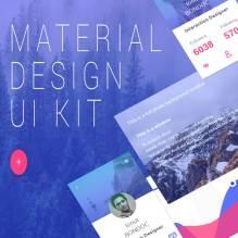 دانلود psd مجموعه Material Design UI