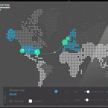 ساخت تصاویر خیره کننده روی نقشه با Pixel Map Generator
