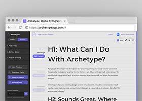 وب تایپوگرافی با Archetype