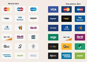 مجموعه آیکونهای پرداخت در وبسایت
