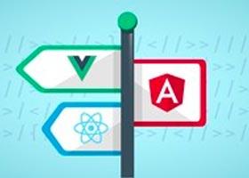 مقایسه کامل React , Vue , angular
