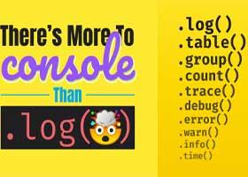 نحوه چاپ گزارش در کنسول جاوا اسکریپت با متد ()Console.log